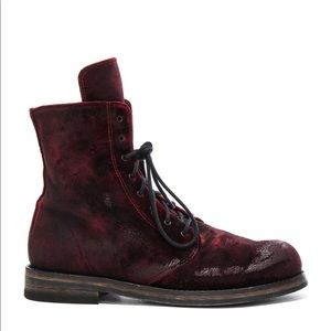 Ann Demeulemeester lace up ankle boots - Ruby